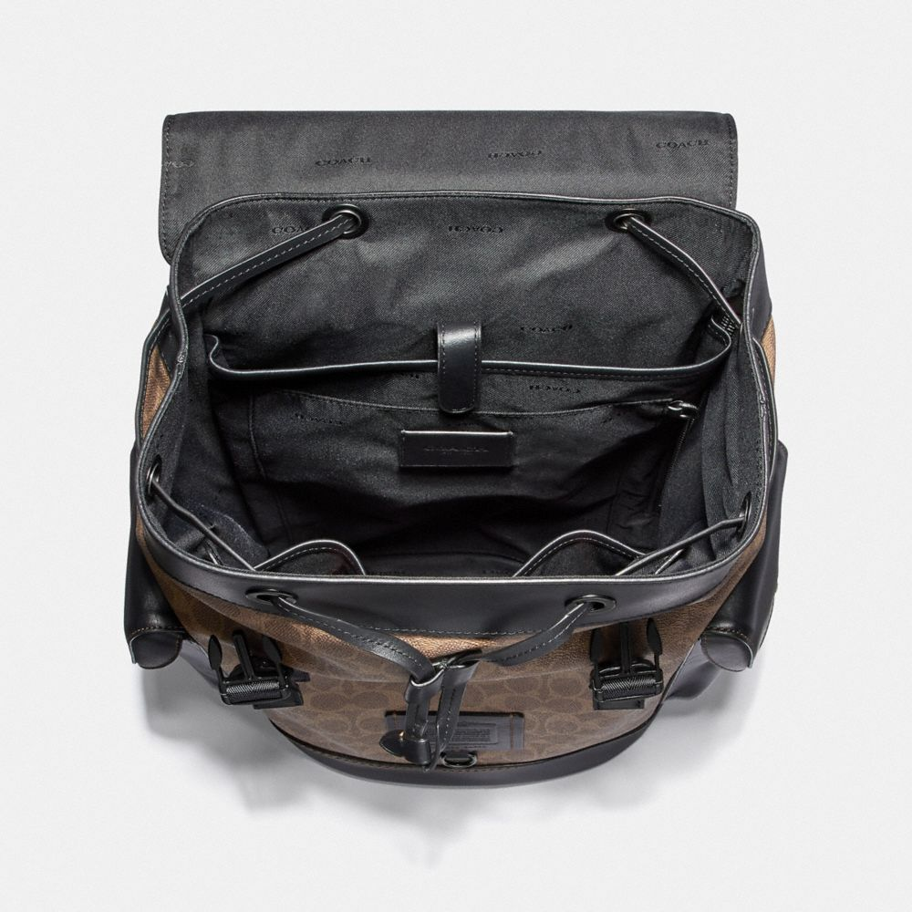 Coach Rivington Backpack in Signature Canvas Alternate View 2