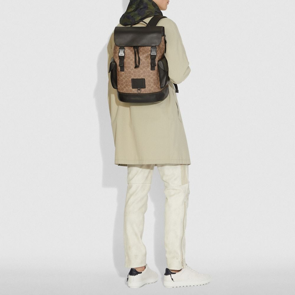 Coach Rivington Backpack in Signature Canvas Alternate View 3