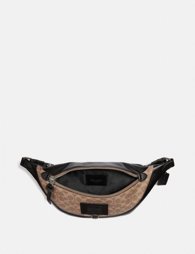 Coach Rivington Belt Bag in Signature Canvas Khaki/Black Copper Women Bags Belt Bags Alternate View 2