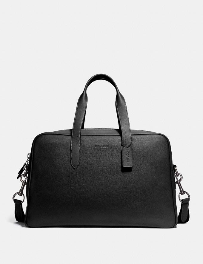 Coach Metropolitan Soft Carryall Black/Black Antique Nickel SALE Men's Sale