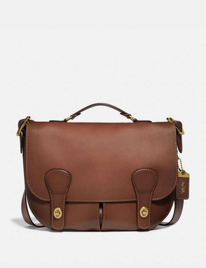 Coach Musette Bag Saddle/Brass SALE Men's Sale