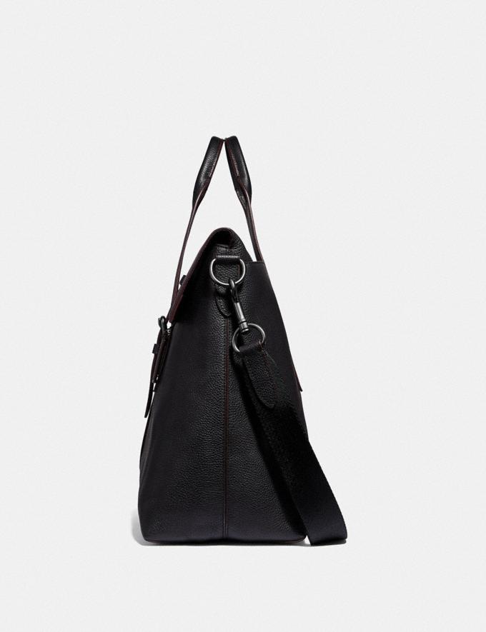 Coach Metropolitan Portfolio Tote Black/Black Antique Nickel Men Edits Work Alternate View 1