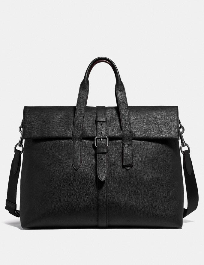 Coach Metropolitan Portfolio Tote Black/Black Antique Nickel Men Edits Work