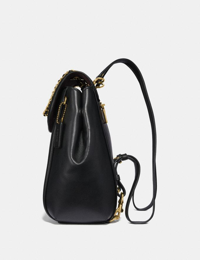 Coach Parker Convertible Backpack With Quilting Black/Brass Women Bags Alternate View 1