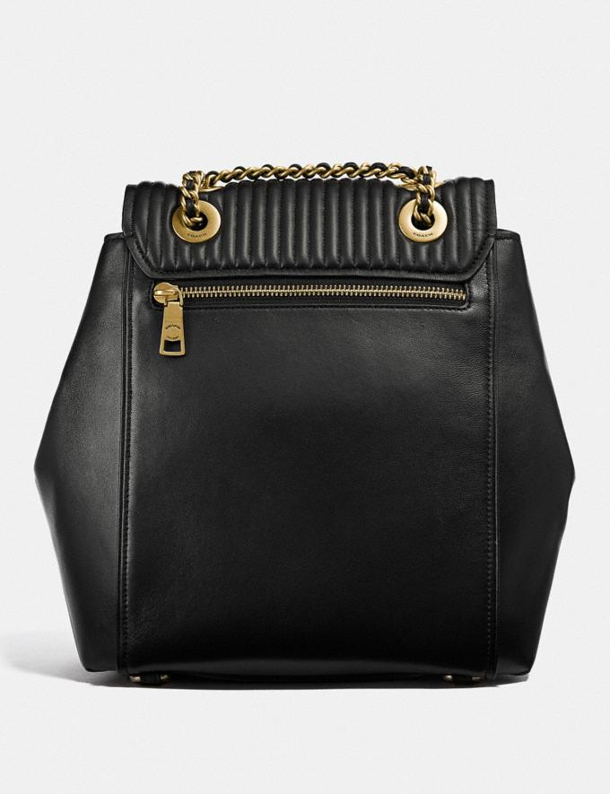 ca23669b28 Coach Parker Convertible Backpack With Quilting Black/Brass Femme Sacs Sacs  à dos Alternate View