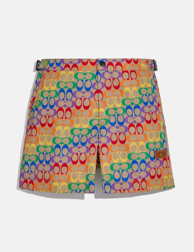 Coach Rainbow Signature Swim Trunks Rainbow Signature Men Ready-to-Wear Tops & Bottoms
