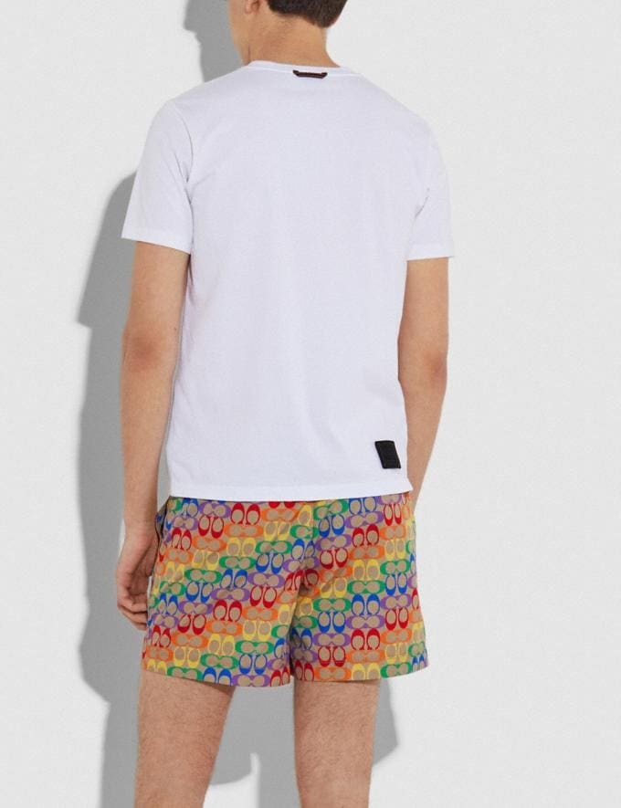 Coach Rainbow Signature Swim Trunks Rainbow Signature Men Ready-to-Wear Tops & Bottoms Alternate View 2