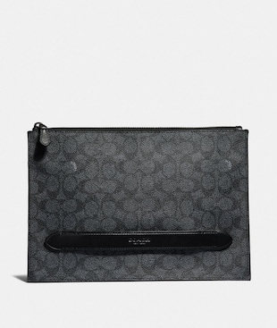 POCHETTE MANHATTAN IN TELA SIGNATURE