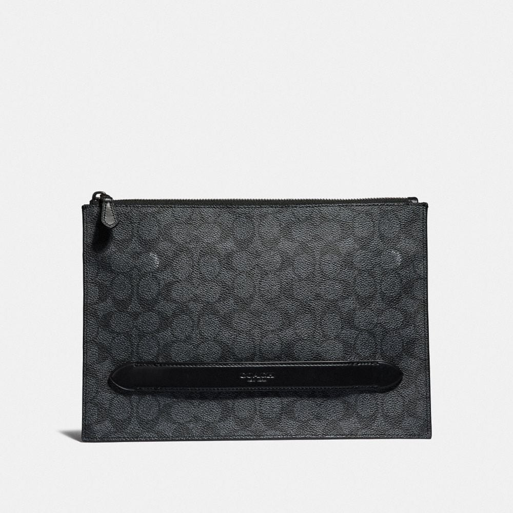 Coach Manhattan Pouch in Signature Canvas