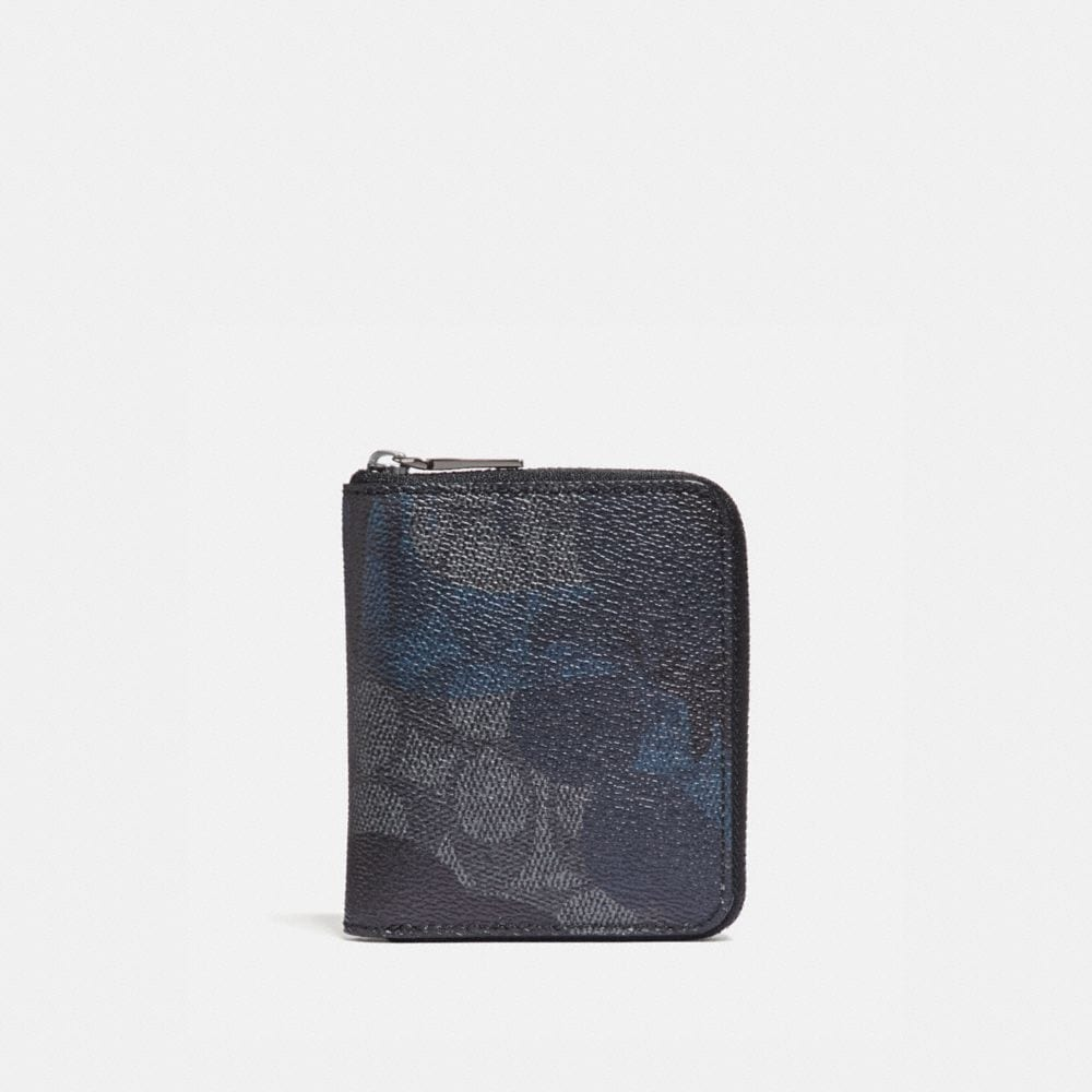 Coach Small Zip Around Wallet in Signature Wild Beast Print
