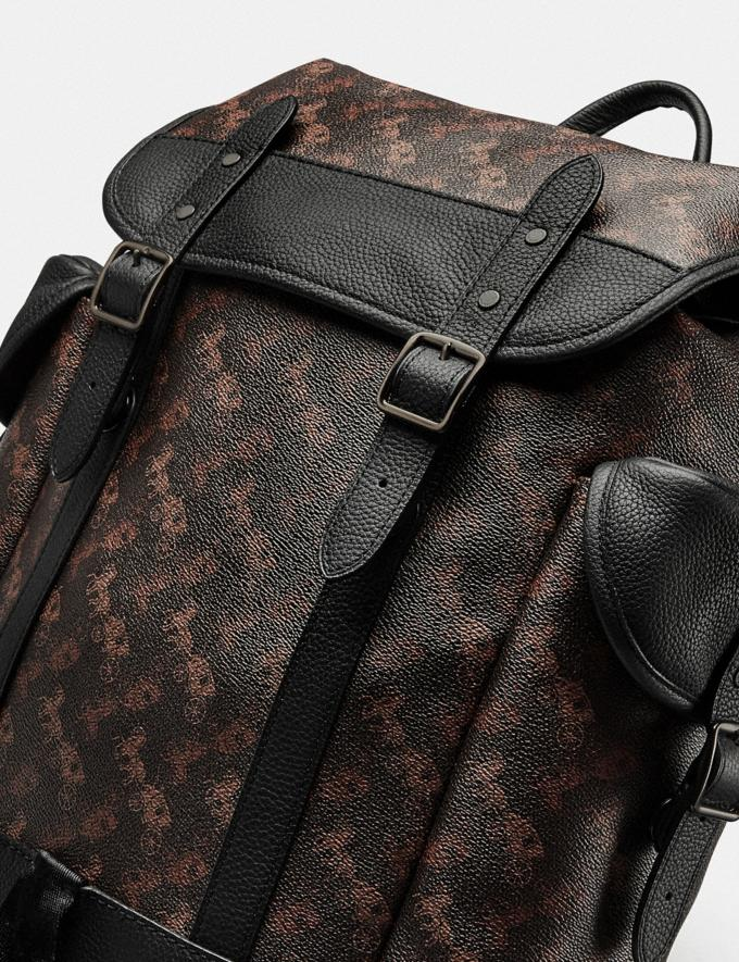 Coach Hitch Backpack With Horse and Carriage Print Black Copper/Truffle Men Bags Backpacks Alternate View 4
