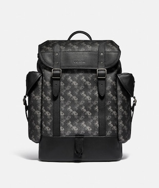 HITCH BACKPACK WITH HORSE AND CARRIAGE PRINT