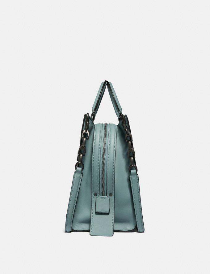 Coach Rogue With Signature Chain Sage/Pewter Personalise Personalise It Monogram For Her Alternate View 1