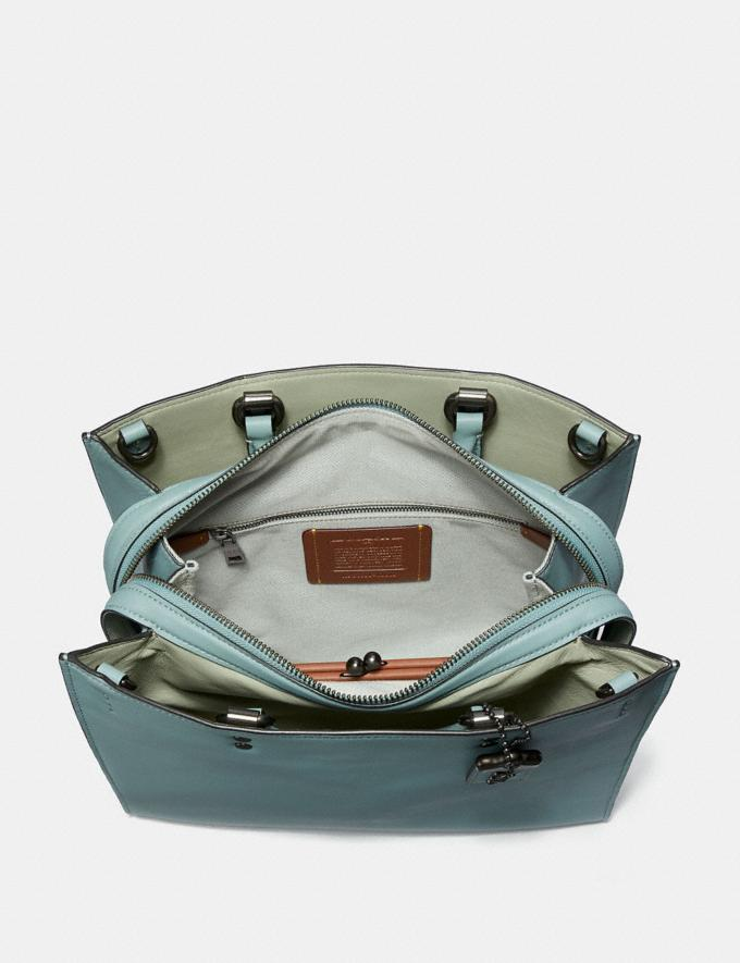 Coach Rogue With Signature Chain Sage/Pewter Personalise Personalise It Monogram For Her Alternate View 2