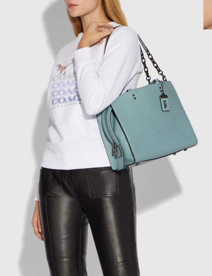 Coach Rogue With Signature Chain Sage/Pewter Personalise Personalise It Monogram For Her Alternate View 3