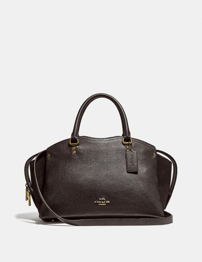 Coach Coach Drew Satchel Oxblood/Gold