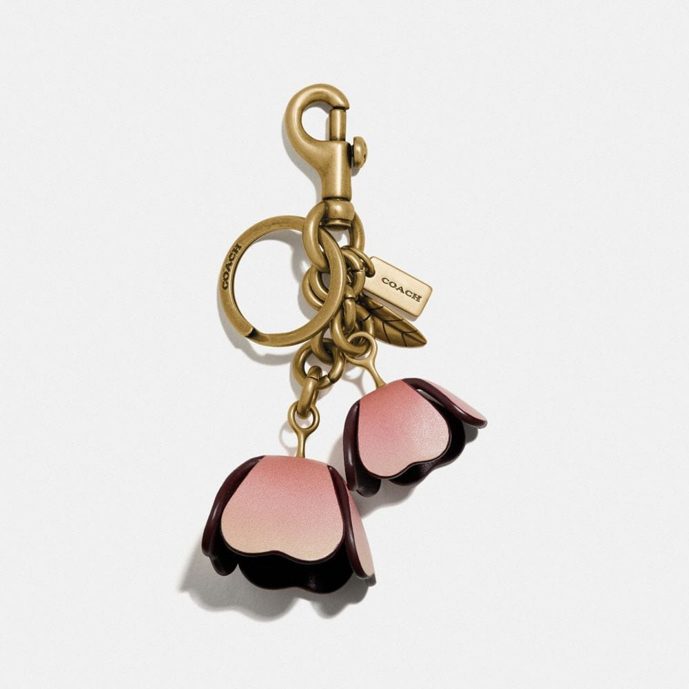 ombre tea rose bag charm