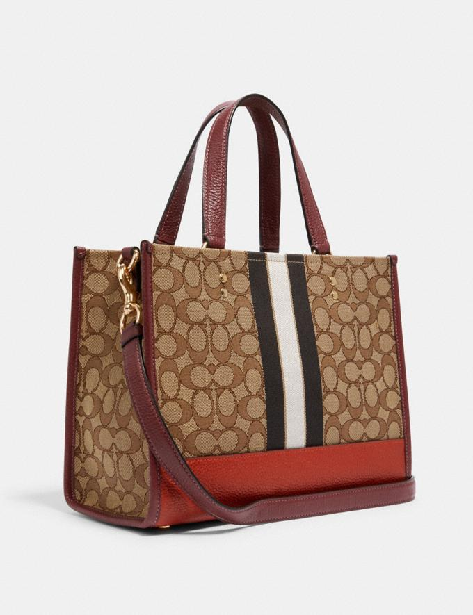 Coach Dempsey Carryall in Signature Jacquard With Stripe and Coach Patch Im/Khaki Sunbeam Multi DEFAULT_CATEGORY Alternate View 1