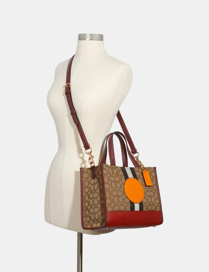 Coach Dempsey Carryall in Signature Jacquard With Stripe and Coach Patch Im/Khaki Sunbeam Multi DEFAULT_CATEGORY Alternate View 3