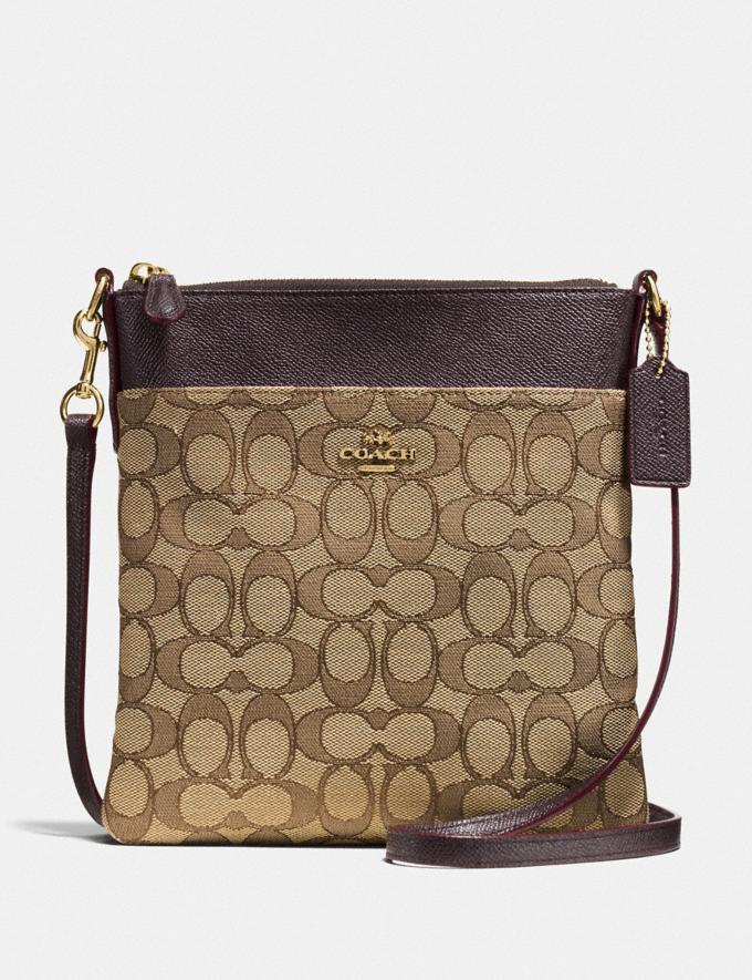 Coach Kitt Messenger Crossbody in Signature Jacquard Khaki/Brown/Gold Women Bags