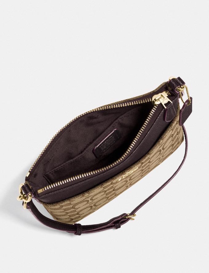 Coach Kitt Messenger Crossbody in Signature Jacquard Khaki/Brown/Gold Women Bags Alternate View 1