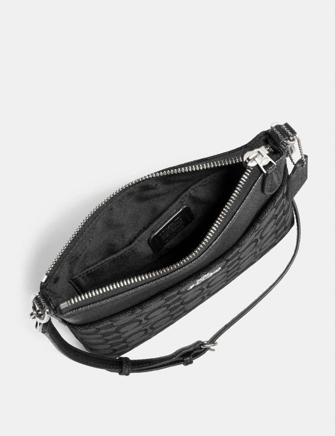 Coach Kitt Messenger Crossbody in Signature Jacquard Black Smoke/Black/Silver Coach Exclusive Event Alternate View 1