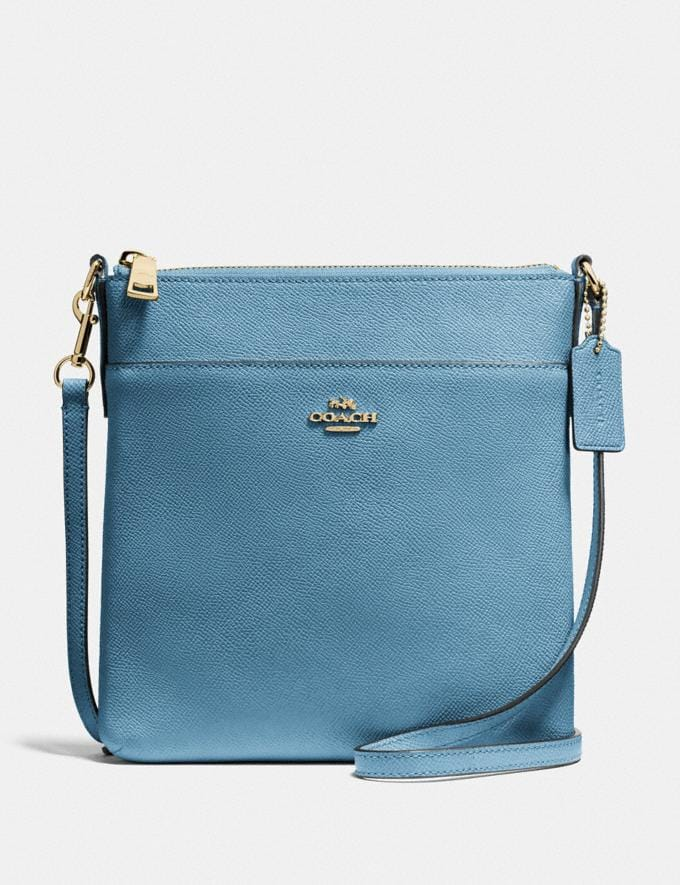 Coach Kitt Messenger Crossbody Brass/Pacific Blue SALE Women's Sale
