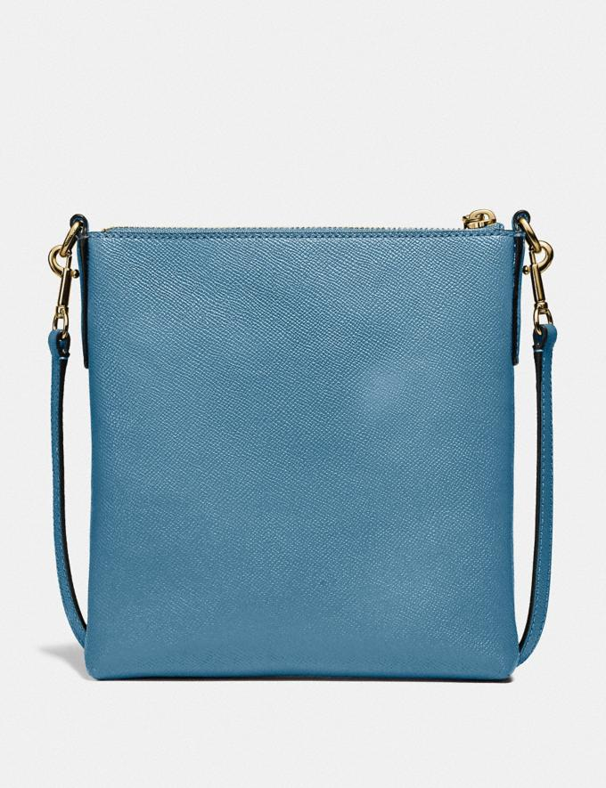 Coach Kitt Messenger Crossbody Brass/Pacific Blue SALE Women's Sale Alternate View 1