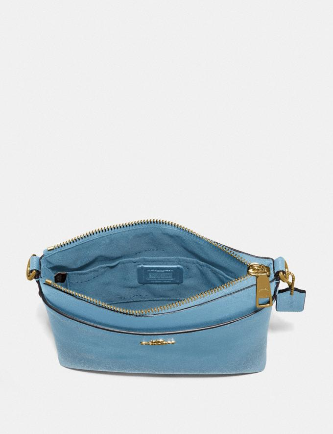 Coach Kitt Messenger Crossbody Brass/Pacific Blue SALE Women's Sale Alternate View 2