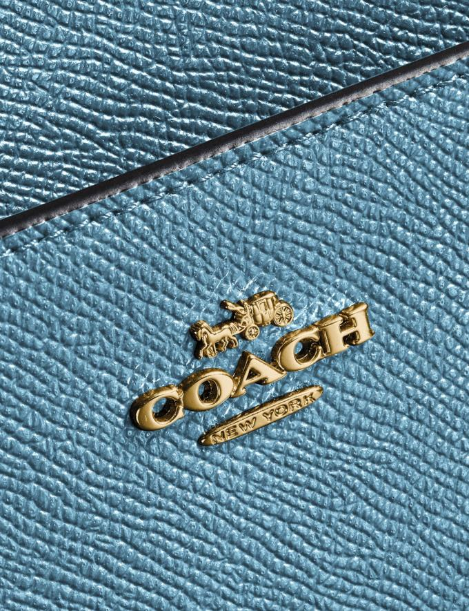 Coach Kitt Messenger Crossbody Brass/Pacific Blue SALE Women's Sale Alternate View 4