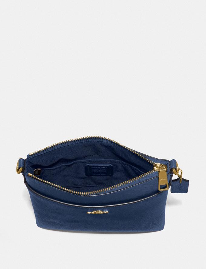 Coach Messenger Crossbody Brass/Deep Blue New Women's New Arrivals Small Leather Goods Alternate View 1