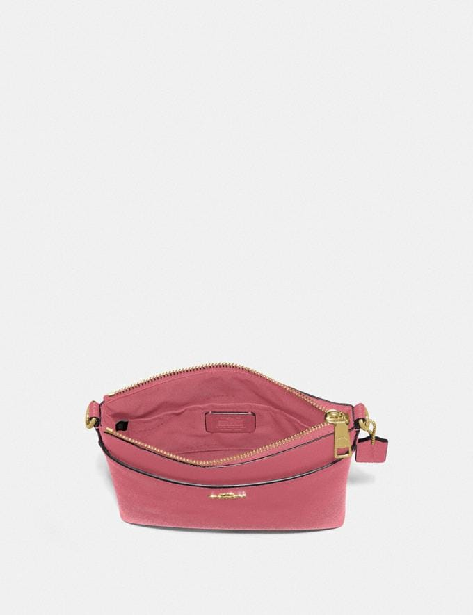 Coach Kitt Messenger Crossbody Brass/Rouge New Women's New Arrivals Small Leather Goods Alternate View 1