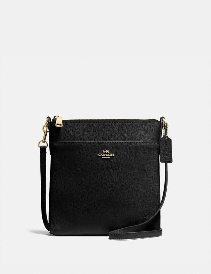 Coach Messenger Crossbody Black/Gold Gifts Featured