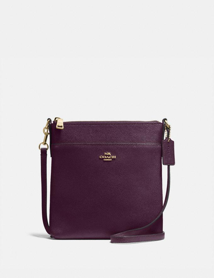 Coach Kitt Messenger Crossbody Oxblood/Gold New Featured Women New Top Picks