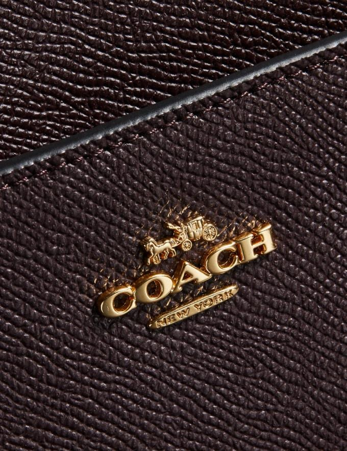 Coach Kitt Messenger Crossbody Oxblood/Gold Coach Exclusive Event Alternate View 3