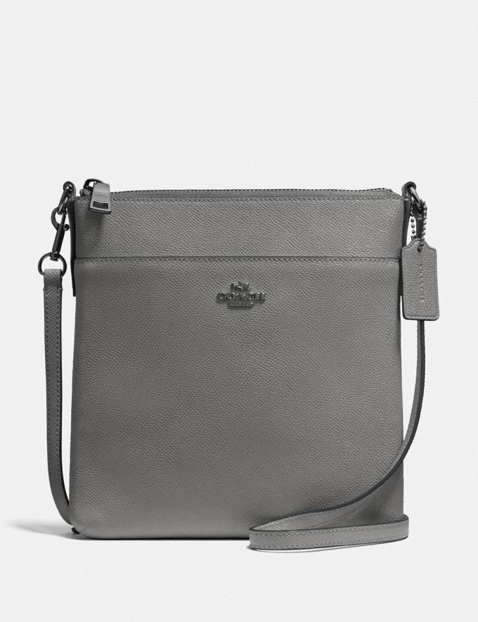 Coach Kitt Messenger Crossbody Gunmetal/Heather Grey SALE 30% off Select Full-Price Styles Women's