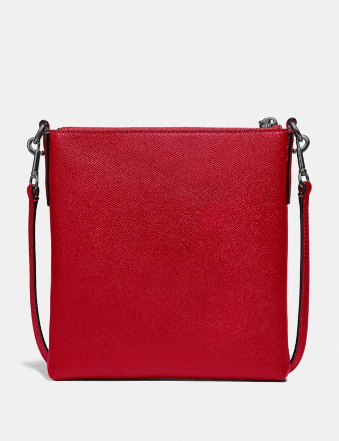 Coach Kitt Messenger Crossbody Gunmetal/Red Apple New Featured Women New Top Picks Alternate View 1