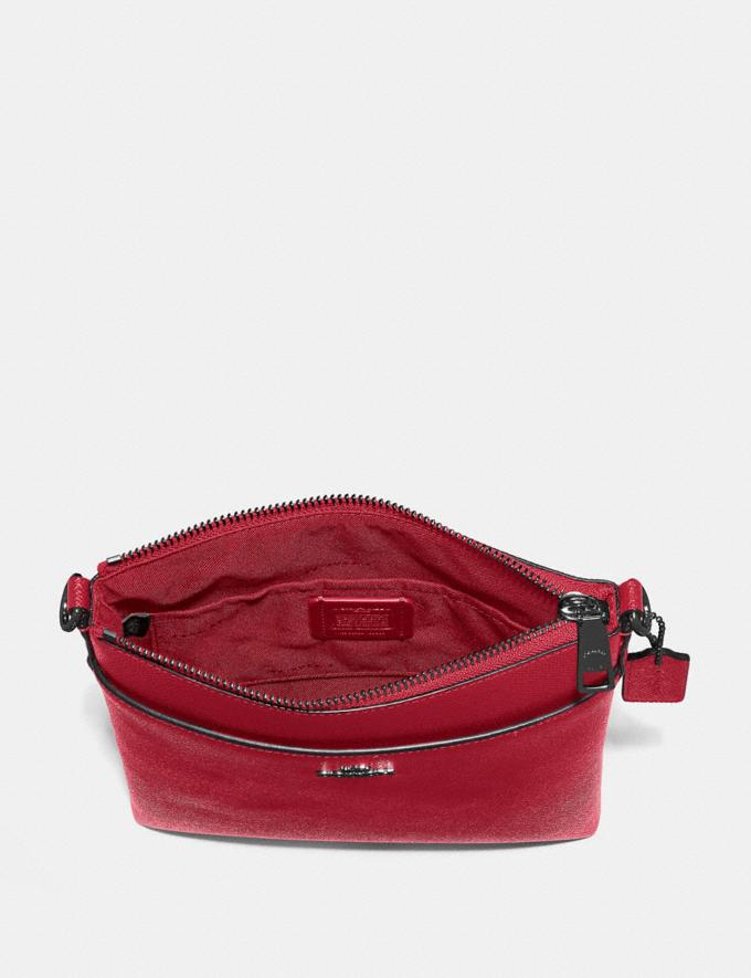 Coach Messenger Crossbody Gunmetal/Red Apple Gifts Featured Alternate View 2