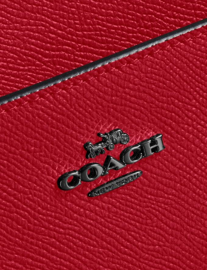 Coach Messenger Crossbody Gunmetal/Red Apple Gifts Featured Alternate View 4
