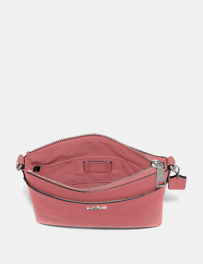 Coach Kitt Messenger Crossbody Bright Coral/Silver Women Bags Crossbody Bags Alternate View 1