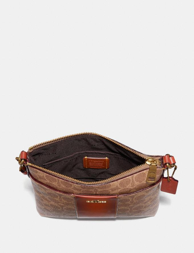 Coach Messenger Crossbody in Colorblock Signature Canvas Tan/Rust New Women's New Arrivals Bestsellers Alternate View 1
