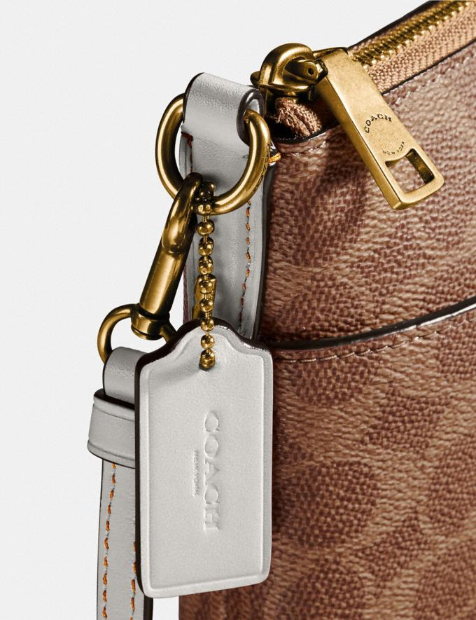 Coach Messenger Crossbody in Colorblock Signature Canvas Tan/Chalk/Brass Gifts For Her Under £250 Alternate View 3