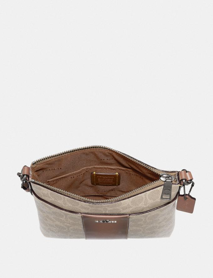 Coach Kitt Messenger Crossbody in Colorblock Signature Canvas Light Nickel/Sand Taupe Women Collection Signature Alternate View 2