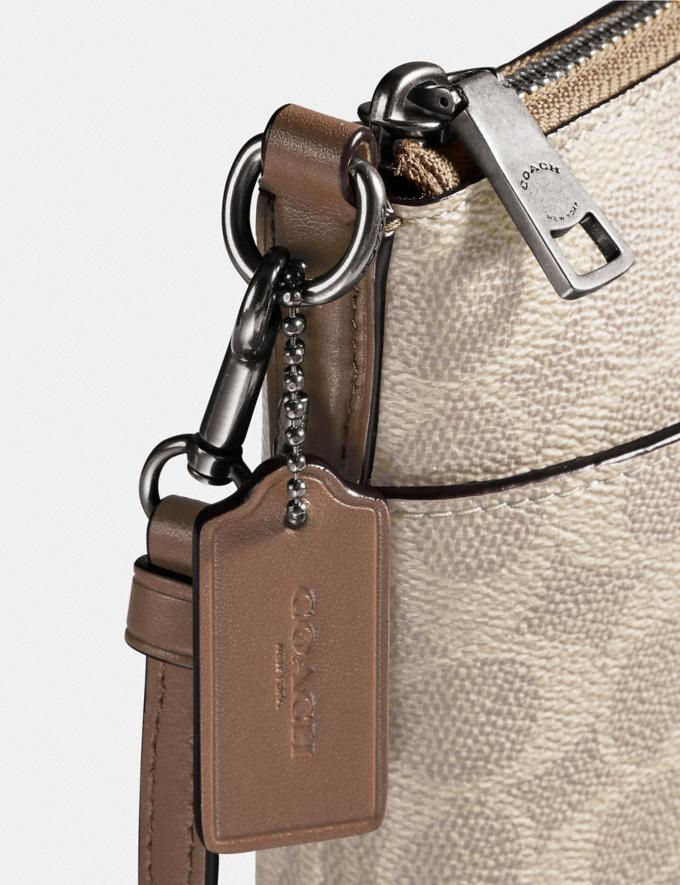 Coach Kitt Messenger Crossbody in Colorblock Signature Canvas Light Nickel/Sand Taupe Women Collection Signature Alternate View 4