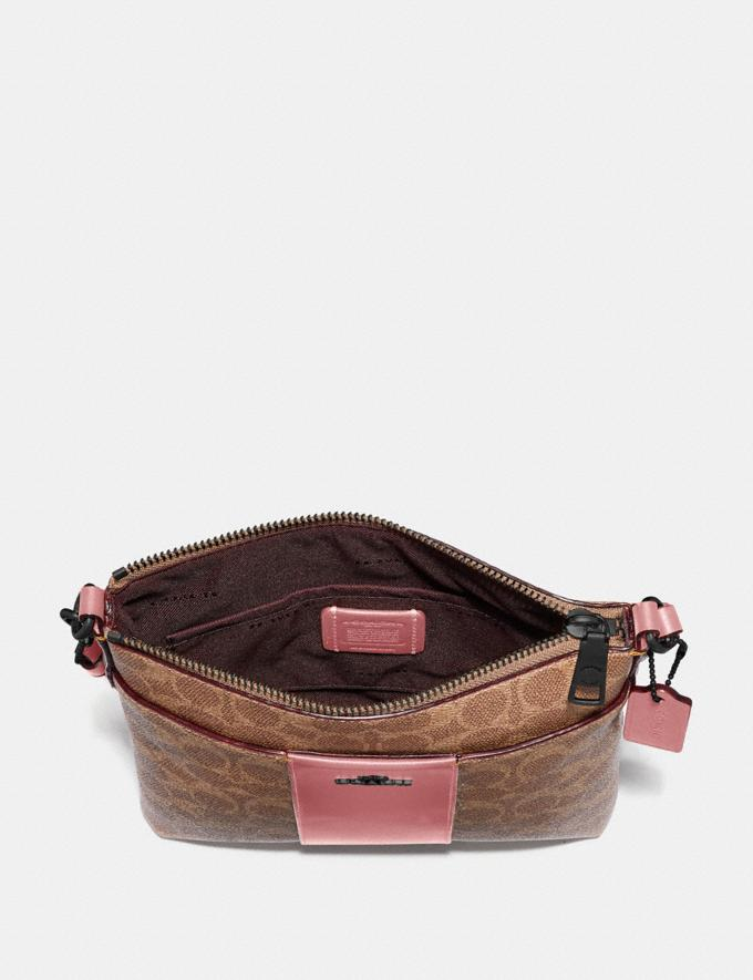 Coach Kitt Messenger Crossbody in Colorblock Signature Canvas Pewter/Tan True Pink Gifts For Her Alternate View 1