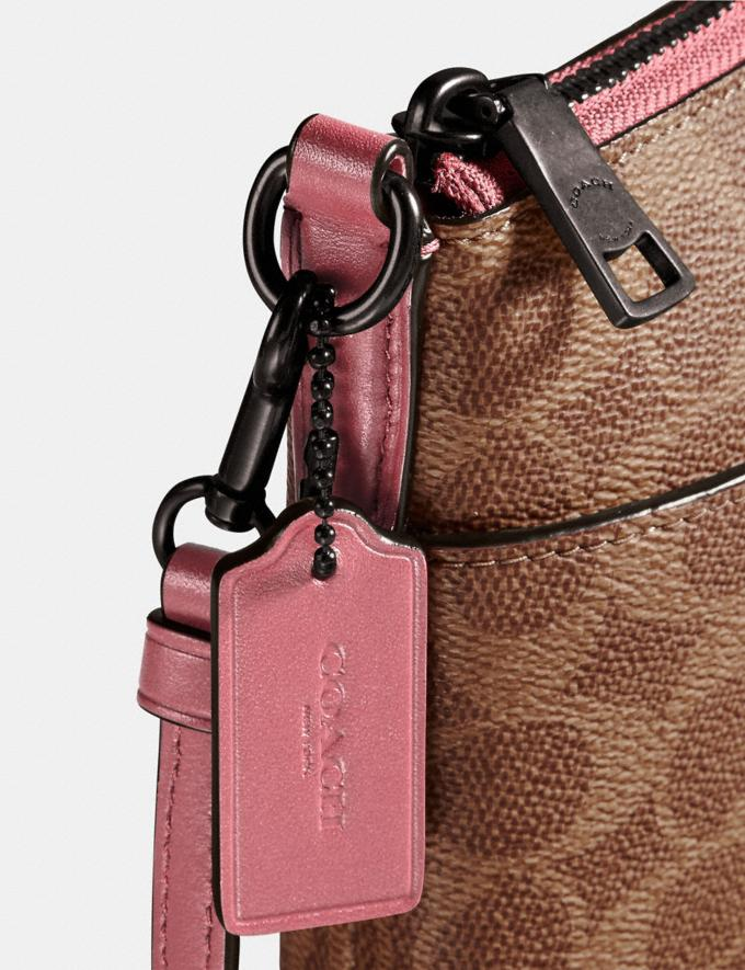 Coach Kitt Messenger Crossbody in Colorblock Signature Canvas Pewter/Tan True Pink Gifts For Her Alternate View 3