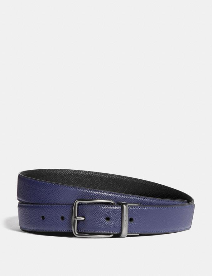 Coach Harness Cut-To-Size Reversible Belt Cadet/Black Men Accessories Belts