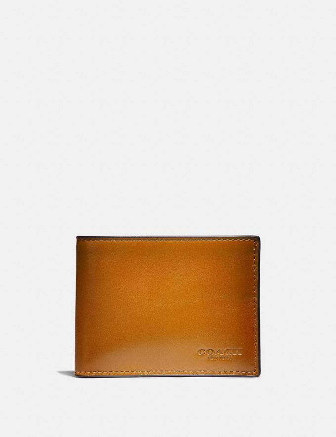 Coach Slim Billfold Wallet Amber SALE Men's Sale
