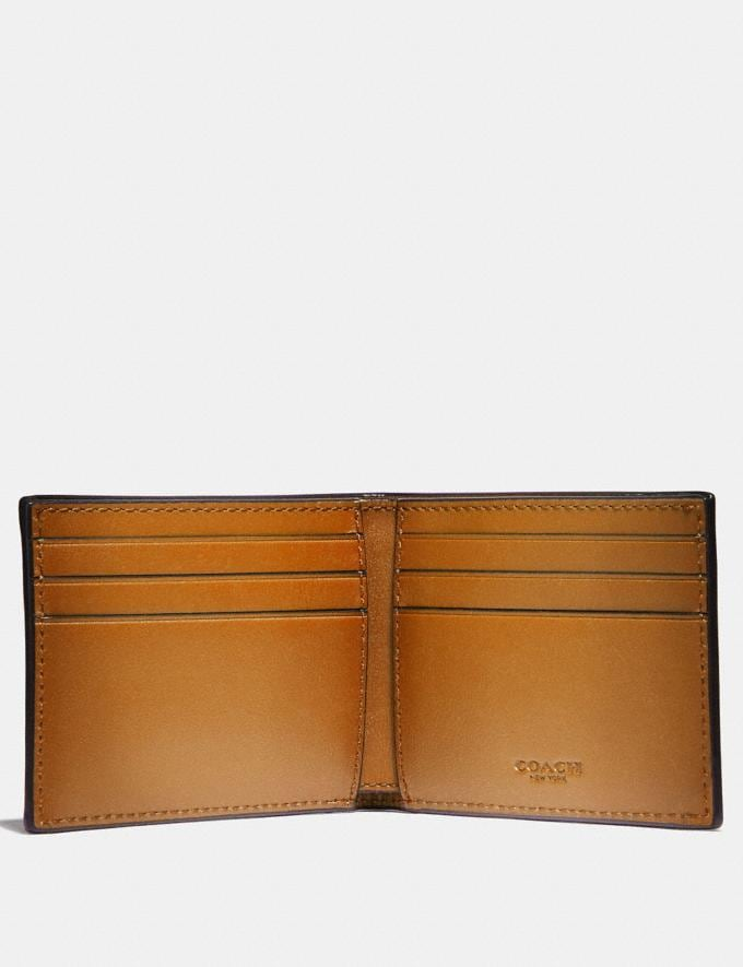 Coach Slim Billfold Wallet Amber SALE Men's Sale Alternate View 1
