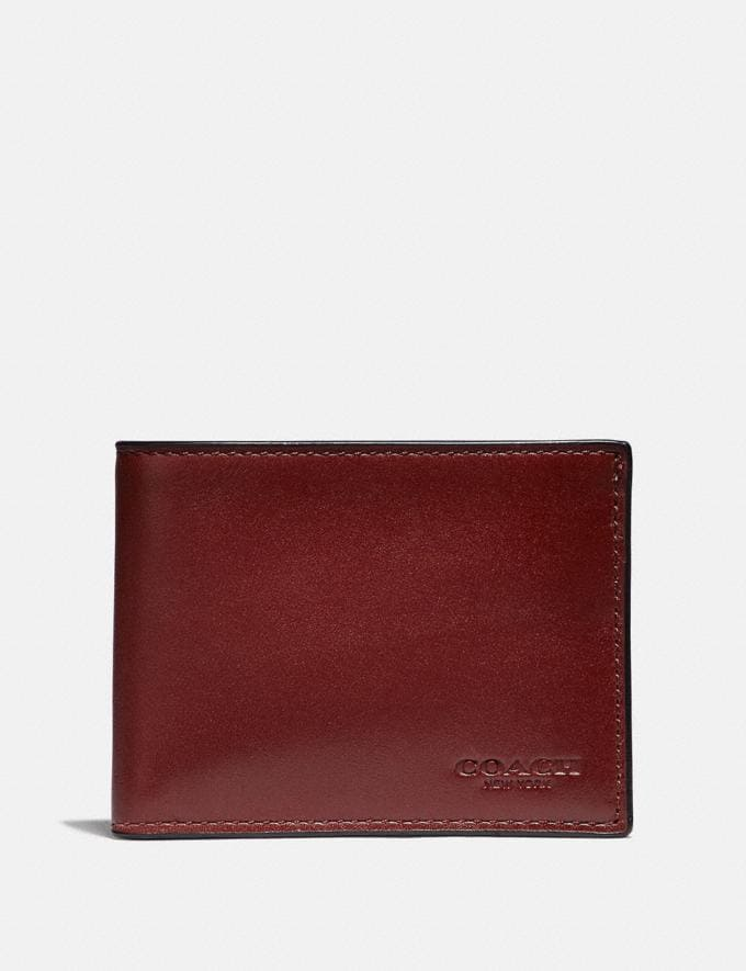 Coach Slim Billfold Wallet Red Currant New Featured Online Exclusives